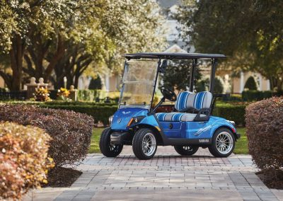 voiture de golf yamaha drive 2 bleue